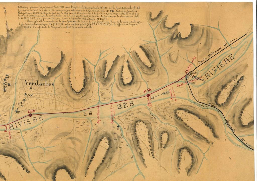 1881 Plan projet routes de Barles (N100)