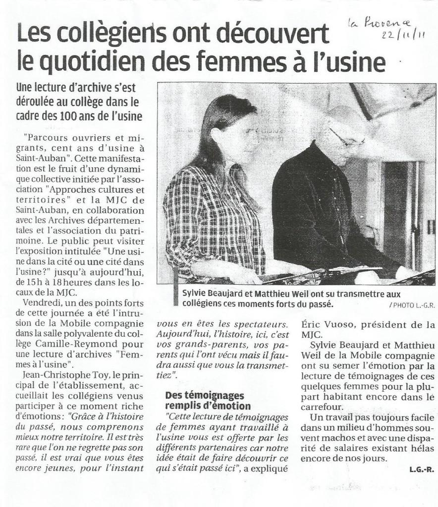 2011 11 22 La Provence