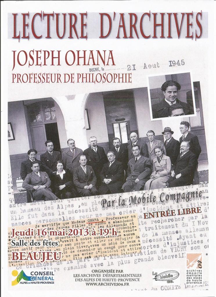 Joseph Ohana 2013