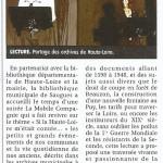 Lecture d'archives : Si la Haute Loire m'était contée...